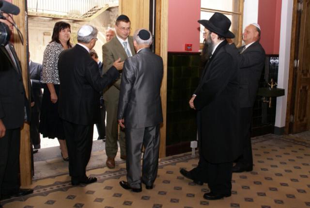 Фоторепортаж с церемонии открытия Рижской синагоги после реновации.