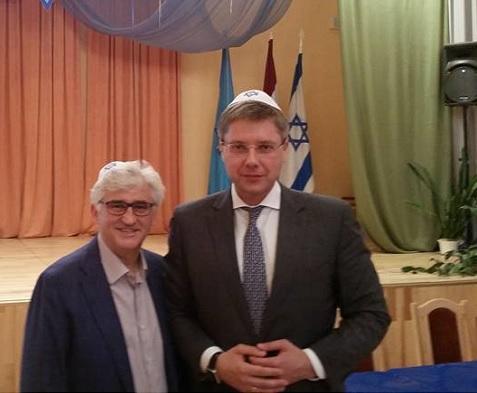 Riga mayor condemns anti-Semitism