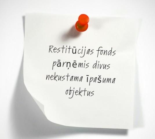 Latvijas ebreju kopienas restitūcijas fonds pārņēmis divus nekustama īpašuma objektus