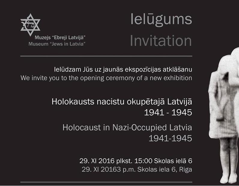 """Opening of the Exhibition at the Museum """"Jews in Latvia"""""""