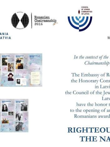 Opening of the exhibition righteous among the nations in Romania