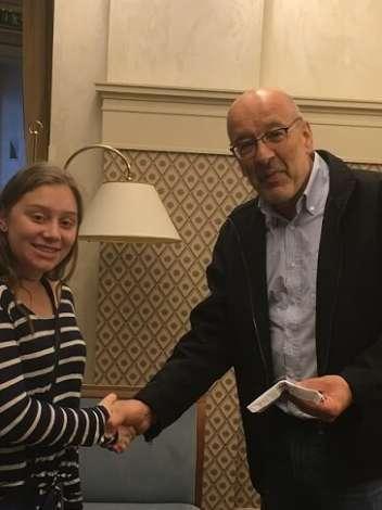 American teenagers donate money to the S. Dubnov Jewish Secondary School