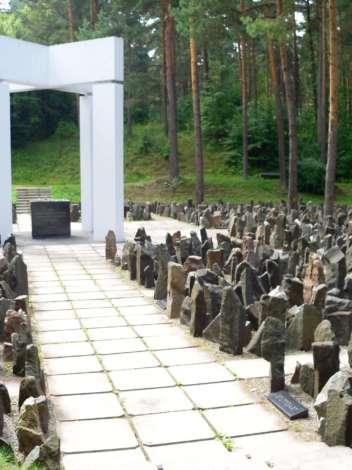 Commemorative event at the Bikernieki Forest Memorial