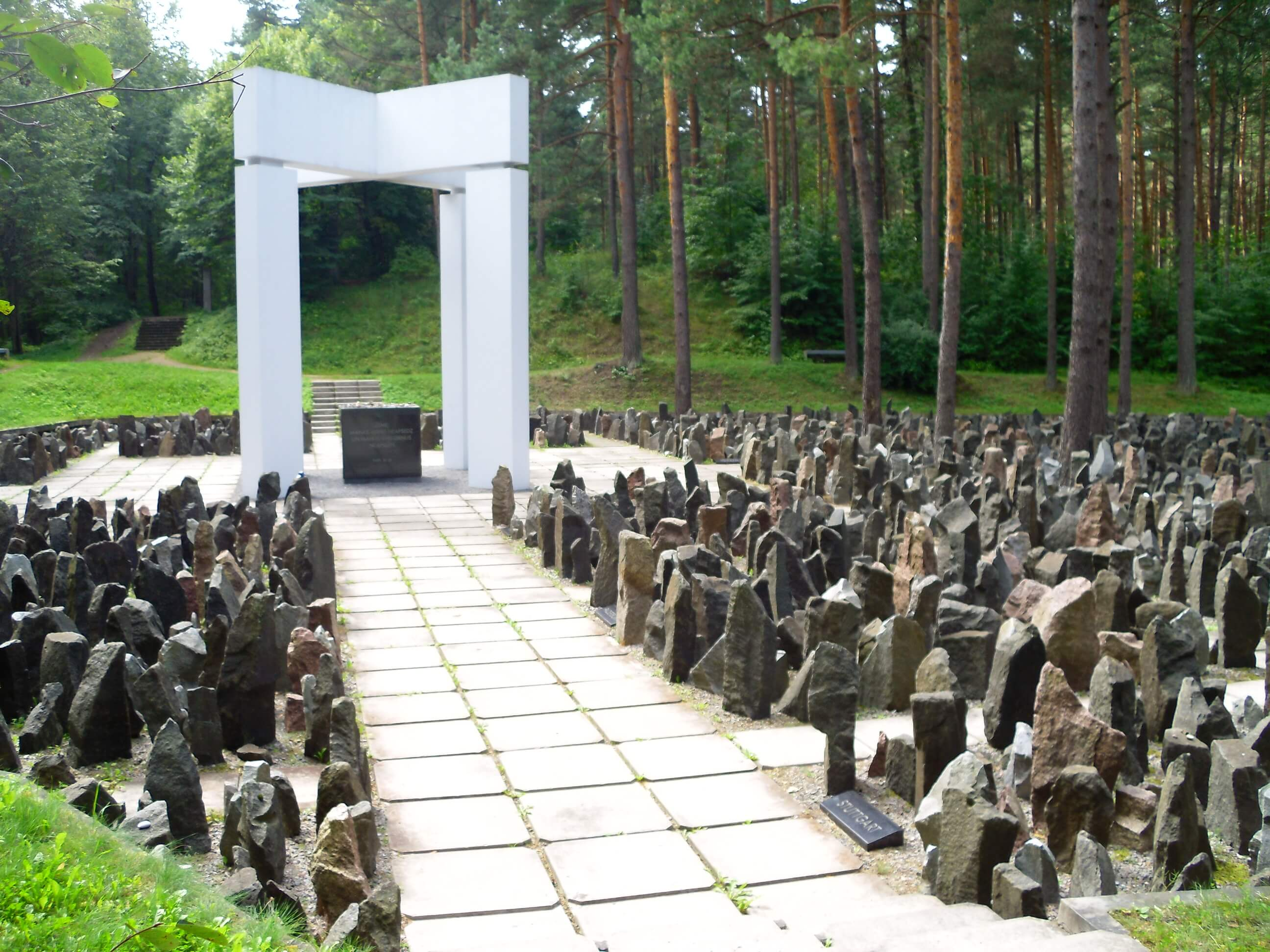 Thumbnail for: Commemorative event at the Bikernieki Forest Memorial