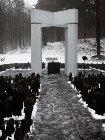Памятная церемония в Бикерниеки