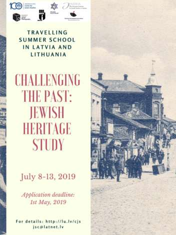 "Call for Applications: ""Challenging the Past: Jewish Heritage Study"""