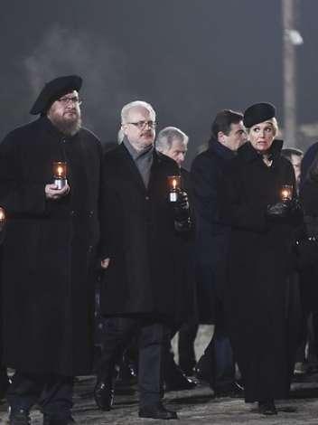 Делегация из Латвии на памятной церемонии в Польше