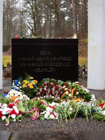 Photo: event at Bikernieki memorial