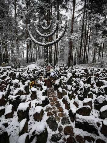 Ceremony in Rumbula in memory of the victims of the Holocaust